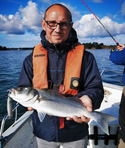 Pierre Yves Perrodo guide de pêche Golfe du morbihan, guide golfe du morbihan, guide peche morbihan, guidagepechemorbihan, pêche aux leurres, pêche à l'appât, ultimatefishing